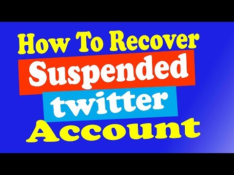 {Nepali} How to Restore Suspended Twitter Account 2018