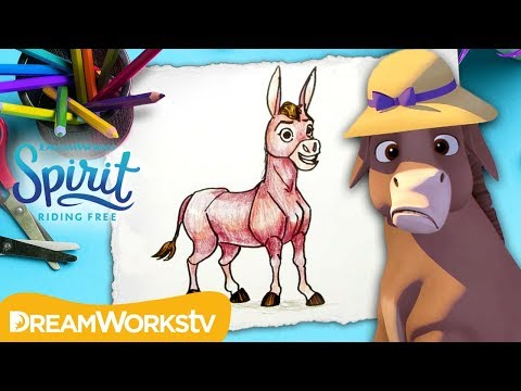 Learn to Draw Señor Carrots | SPIRIT RIDING FREE