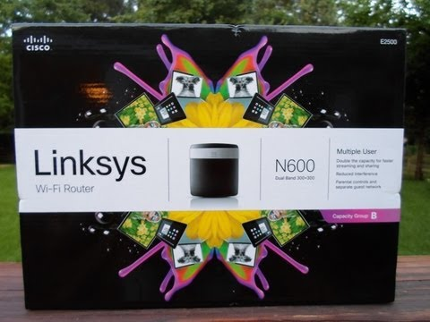 New Cisco Linksys E2500 Wi-Fi Router Unboxing, Configuration & Wireless Connection - May 21, 2013