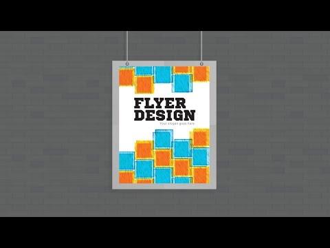 Illustrator tutorial - Creative poster flyer design