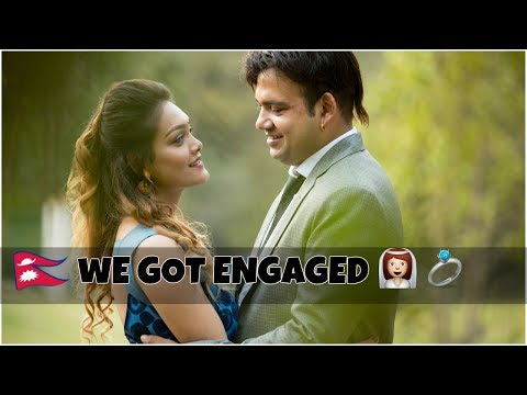 OUR ENGAGEMENT VIDEO (Rojee+Bhupesh) || Elegant rosy