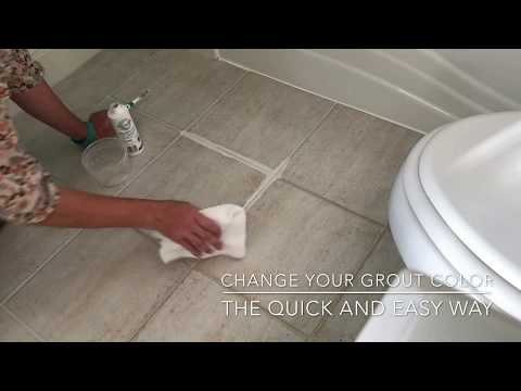 Change Grout Color - The Easy Way