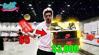 Trading a $5 Supreme Sticker to $3,000 in Sneakers! Sneakercon Bay Area | Ep.6