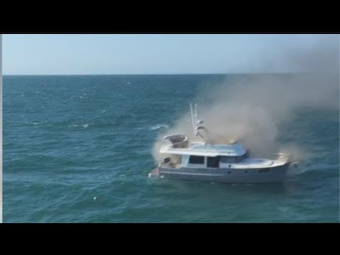 Key West Express captain rescues family from burning boat