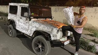 FOIL WRAPPING ON MY THAR | *Insane Public Reactions*