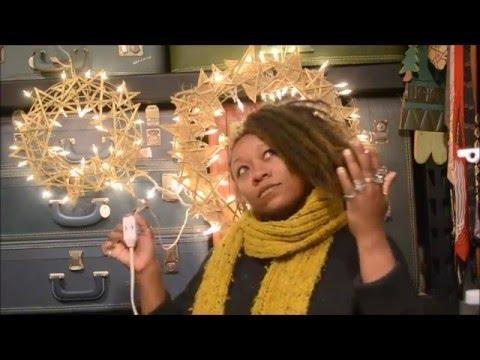 DIY Stirrer Stick Star Wreath