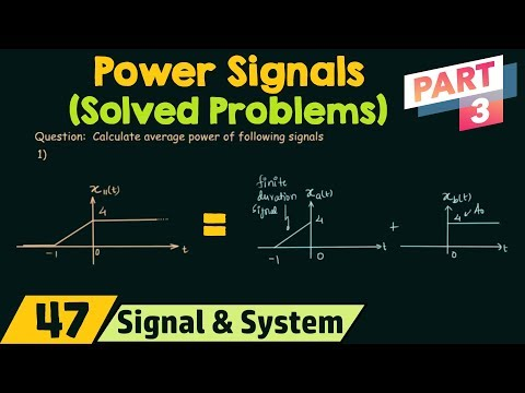 Power of CT Signals (Solved Problems) | Part 3