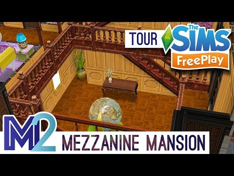 Sims FreePlay - Mezzanine Mansion Design Tour (Early Access)