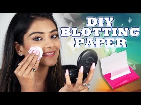 DIY Blotting Paper for Oily Skin | Home Remedies | Skincare Routine | Foxy Makeup Tutorial