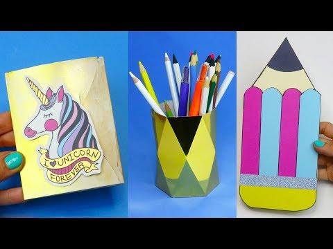 7 Diy School Supplies Easy Diy Paper Crafts Ideas