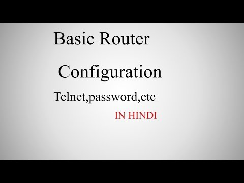 How to configure basic router configuration on cisco devices