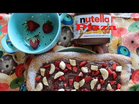 Beyond Delicious Nutella Pizza: Featuring Strawberries and  Bananas