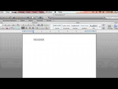 How to Change Section Headers in Microsoft Word 2007 : Microsoft Word Tutorials