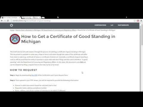 How to Get a Certificate of Good Standing in Michigan