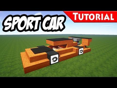 Minecraft: Easy Sport - Race Car Tutorial [ Ferrari Style ] How to make a car 1.8