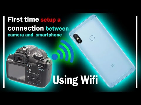 Connect Canon DSLR with smartphone first time