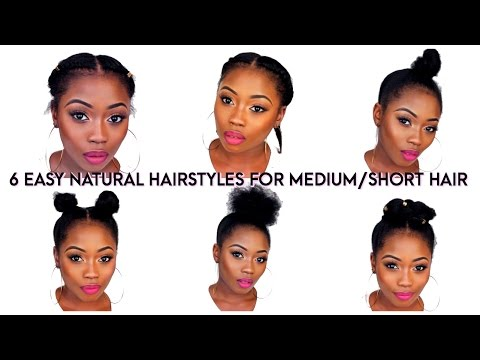 6 BACK TO SCHOOL QUICK NATURAL HAIRSTYLES FOR SHORT/MEDIUM HAIR | LIZZIE LOVES