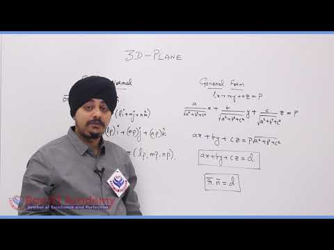3D Plane Maths Part-1 std 12th HSC Board Video Lecture BY Rao IIT Academy