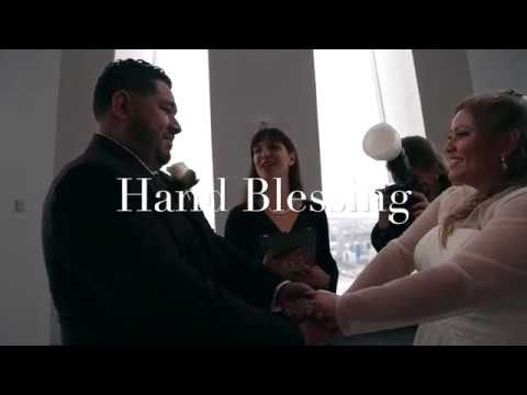 Freedom Tower Wedding Ceremony officiated by Bilingual Wedding officiant Veronica Moya