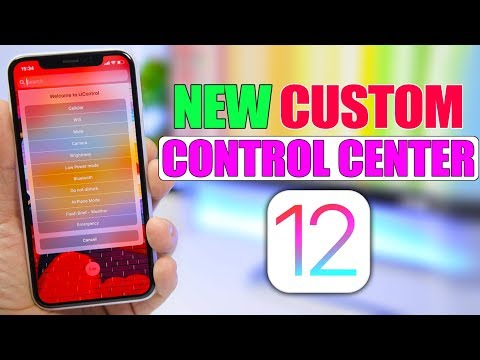 New CUSTOM iOS 12 Control Center !