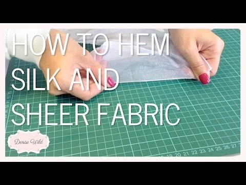 SEWING HOW-TO: Hem Sheer And Silk Fabric Using A Zigzag Stitch