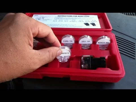 Noid Lite Test Kit - for fuel injector testing demonstration video
