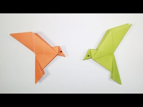 How to make a paper Bird - Easy origami Bird Tutorial