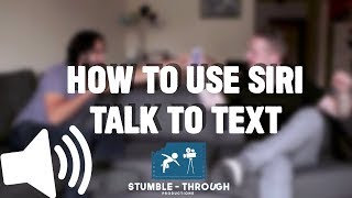 How to use Siri talk to text