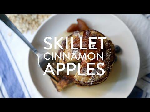Easy Skillet Cinnamon Apples - Video Recipe by Broke and Cooking - www.brokeandcooking.com