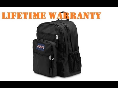 Jansport Backpack comes with a Lifetime Warranty
