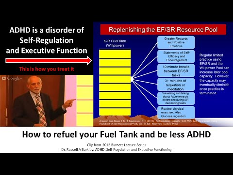 This is how you treat ADHD based off science, Dr Russell Barkley part of 2012 Burnett Lecture