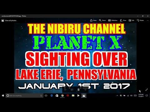 Nibiru Planet X 2016 - SIGHTING OVER LAKE ERIE PENNSYLVANIA JAN  1st 2017