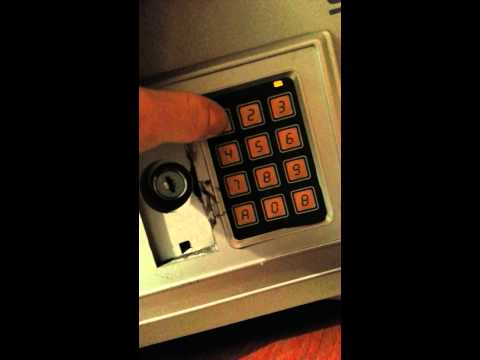 How to reset code on an electronic safe