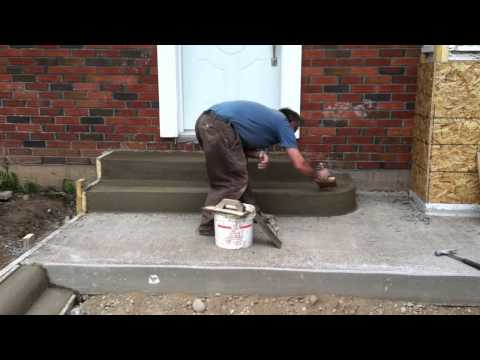 How To Make A Driveway Cement Curb and Steps