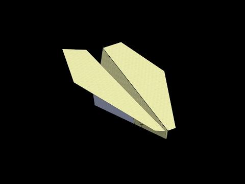 Nakamura Lock Paper Airplane: 3D Folding