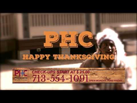 Pasadena Health Center - TV Commercial - November 2017 - Thanksgiving day