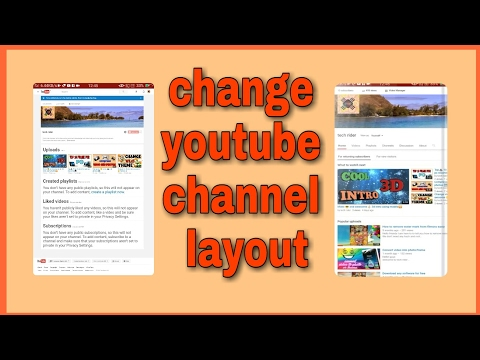 Change-- youtube channel layout only using your phone📱