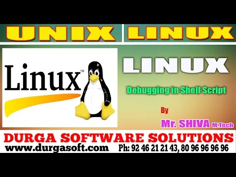 Linux/ Unix Tutorial ||  Debugging in Shell Script by Shiva
