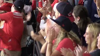 Watch Indians fans go crazy on Francisco Lindor