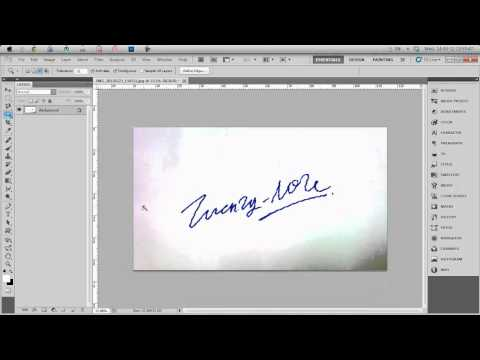 How to crop out Signature Tutorial #4