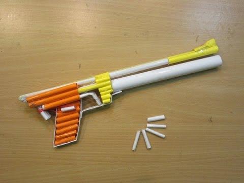 How to Make a Paper Gun that Shoots(Steyr LP2 compact Airsoft Gun)-  Easy Paper pistol Tutorials
