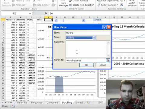 Excel Video 136 Using OFFSET to Update the Scrolling Chart
