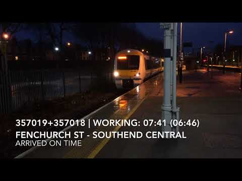 Early Morning Trains at: Southend Central, LTSML, 29/12/17