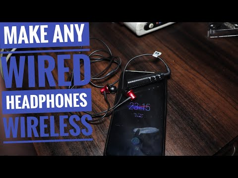 How to make any wired headphones WIRELESS