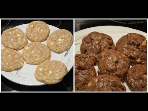Adventures In Baking: White Chocolate Lemon Cookies & Chocolate Peanut Butter Cookies