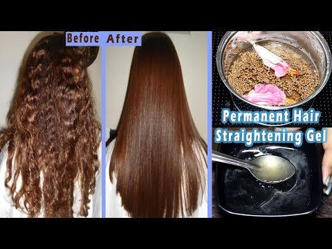 I Made This Hair Straightening Gel For Permanent Hair Straightening At Home || Flax seed Hair Gel ||