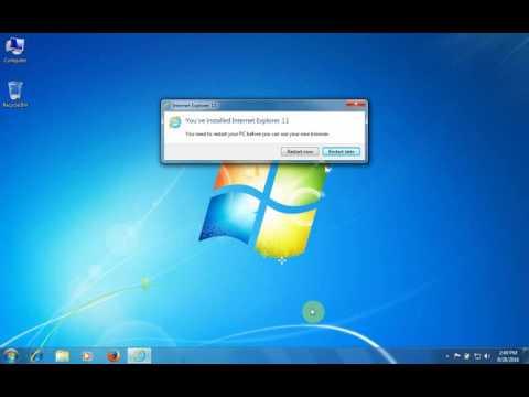 Upgrade Internet explorer 8 to 11