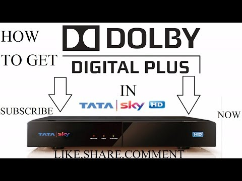 HOW TO GET DOLBY DIGITAL PLUS AUDIO FEATURE IN TATA SKY HD SET TOP BOX VERY EASY 1