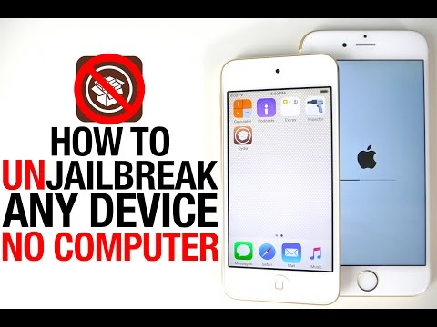 How To Unjailbreak ANY iPhone, iPad & iPod Without Computer iOS 8.4 & 8.3