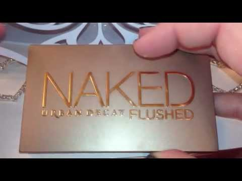 Review and swatches Urban Decay Naked Flushed palette